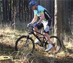 The HSB 2009 XC racing bike in action